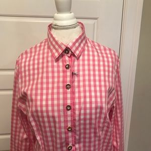 Gorsuch Cotton Pink and White Check Shirt